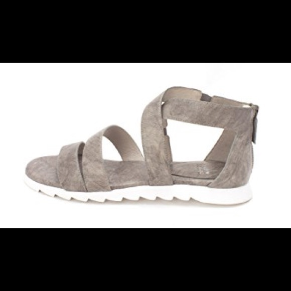 a3cbaf9e46d9 Eileen Fisher Shoes - Eileen Fisher Open toe Gray Sandals 9.5